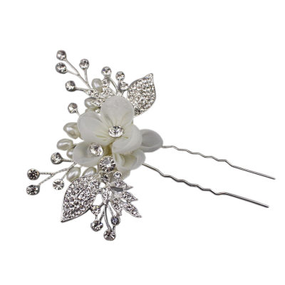 ATHENA COLLECTION - VINTAGE CHIC HAIR PIN - PIN 35 SILVER