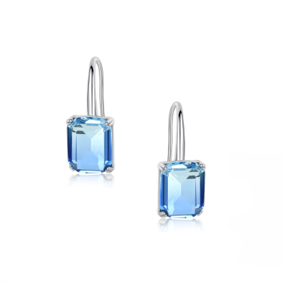 CUBIC ZIRCONIA COLLECTION - BLUE STARLET EARRINGS - CZER493
