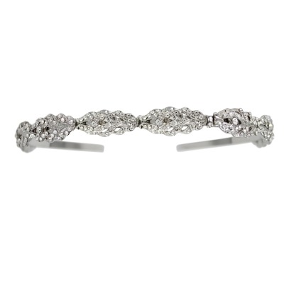 ATHENA COLLECTION - CRYSTAL HEADBAND - AHB32 SILVER