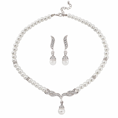 CHIC PEARL SET - NK230 (SILVER)