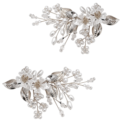 ATHENA COLLECTION - STARLET GLAM SHOE CLIPS - SC5 SILVER