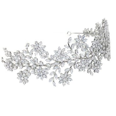 CUBIC ZIRCONIA COLLECTION - SHEER GLAMOUR HEADBAND - AHB26