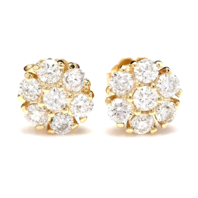 CUBIC ZIRCONIA COLLECTION - GRACEFUL GLITZY  EARRINGS - CZER573 GOLD