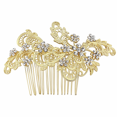 SASSB COLLECTION - LIZA EXQUISITE HAIRCOMB - 14K GOLD