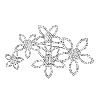 ATHENA COLLECTION - LUXE CRYSTAL FLOWER BROOCH - BROOCH 53