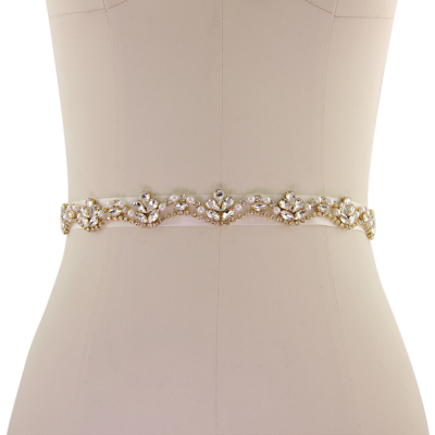 ATHENA COLLECTION - STARLET BRIDAL BELT - BELT 18 - GOLD