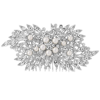 ELITE COLLECTION - Classic Extravagance Pearl Hair comb - Pearls (HCa)