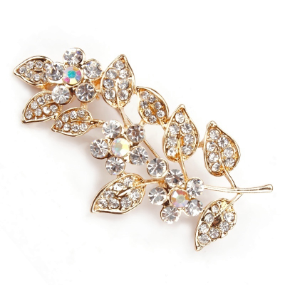 ATHENA COLLECTION - DAISY VINE  BROOCH - (BROOCH 155) GOLD