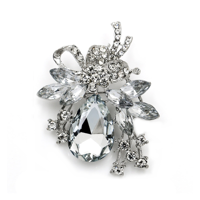 ATHENA COLLECTION - STARLET BROOCH - SILVER (BROOCH164)