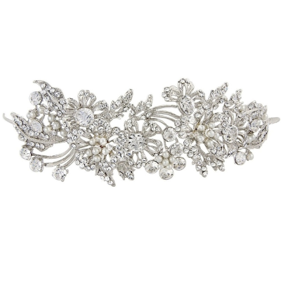 ELITE COLLECTION - Enchanting Pearl Tiara - Tiara 12 (SILVER)