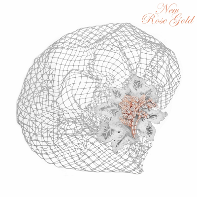 COUTURE BIRDCAGE VEIL - ROSE GOLD BC1 SASSB (RG)
