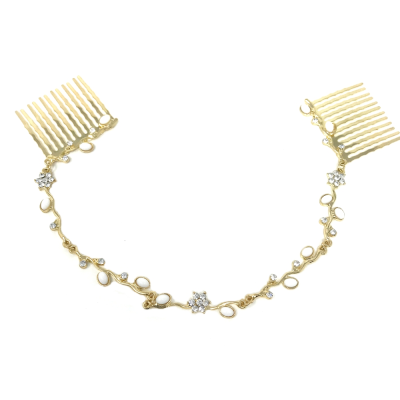 ATHENA COLLECTION - DAINTY CRYSTAL VINE - GOLD (HP161)