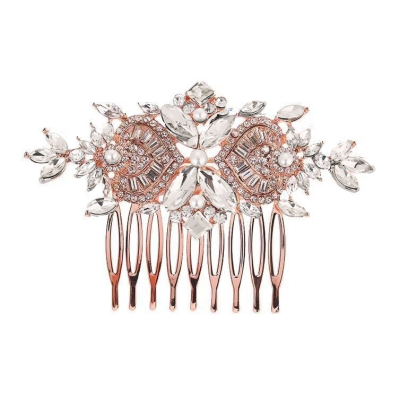 ATHENA COLLECTION - EXQUISITE CRYSTAL SPARKLE COMB - HC166 ROSE GOLD