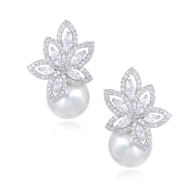 CUBIC ZIRCONIA COLLECTION - STARLET SPARKLE EARRINGS - CZER577