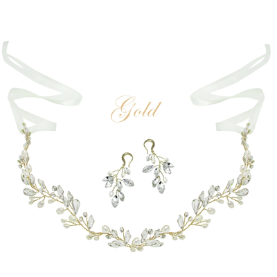 ATHENA COLLECTION - CHIC PEARL VINE SET  - HP174 - GOLD SET