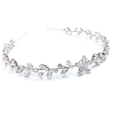 CUBIC ZIRCONIA COLLECTION - BEJEWELLED SIMULATED DIAMOND HEADBAND - AHB106