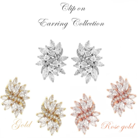 CUBIC ZIRCONIA COLLECTION - CRYSTAL ROMANCE CLIP ON EARRING COLLECTION 4