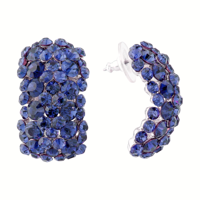 ATHENA COLLECTION CRYSTAL CLUSTER EARRINGS - CLIP-ON