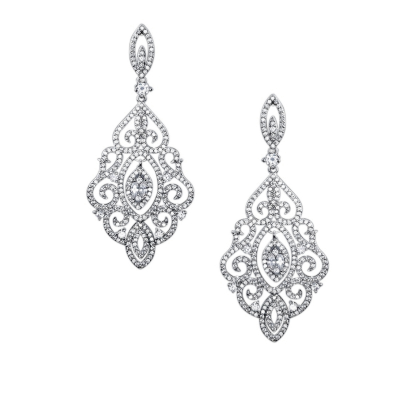 CUBIC ZIRCONIA COLLECTION - DIVINE DIVA CHANDELIER EARRINGS - CZER450