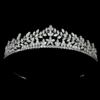CUBIC ZIRCONIA COLLECTION - CRYSTAL DIVINE TIARA - AHB47