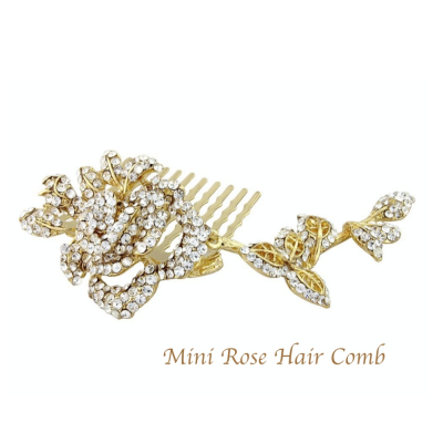 Vintage Dream small Crystal Bridal Hair Comb - GOLD (Comb1)