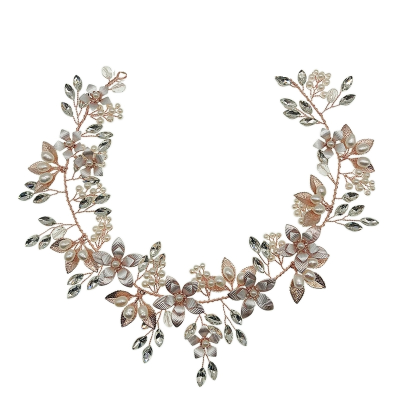 ATHENA COLLECTION - FLORAL ROMANCE HAIRVINE - ROSE GOLD HP158