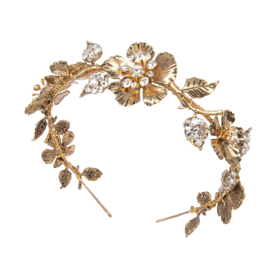 ATHENA COLLECTION - GOLD LUXE HEADBAND - AHB53 GOLD
