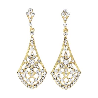 Crystal Chic Earrings - Gold (ER60)