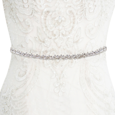 ATHENA COLLECTION - CRYSTAL CLUSTER BELT - IVORY - BELT 30
