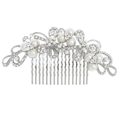 ELITE COLLECTION - ENCHANTING PEARL HAIR COMB - HC206