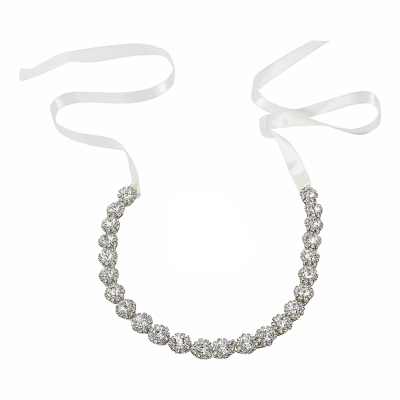 ATHENA COLLECTION - EXQUISTE CRYSTAL HAIR VINE - HP150 SILVER