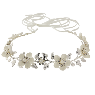 SASSB Collection - Opulence Floral Hairvine  HP136 (Silver)