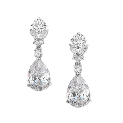 CUBIC ZIRCONIA COLLECTION - CRYSTAL DIVINE EARRINGS - CZER541