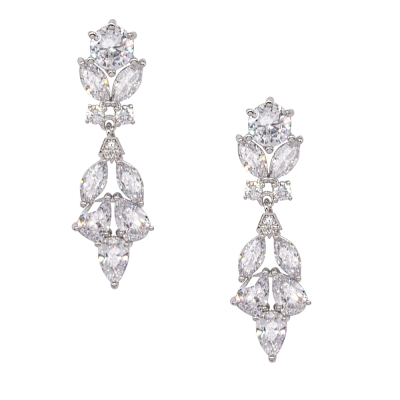 CUBIC ZIRCONIA COLLECTION - VINTAGE LUXE EARRINGS - CZER534