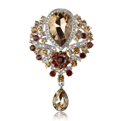 ATHENA COLLECTION - SHIMMERING STARLET BROOCH - (BROOCH 161) TOPAZ