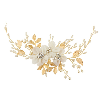 ATHENA COLLECTION - FLORAL ENCHANTMENT HEADPIECE - HP140 (Gold)