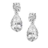 CUBIC ZIRCONIA COLLECTION - SIMULATED DIAMOND DROP EARRINGS - CZER598 SILVER