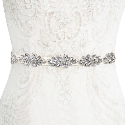 ATHENA COLLECTION - STARLET CRYSTAL BELT - LIGHT IVORY (BELT 29 )