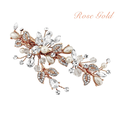 SASSB COLLECTION - VINTAGE HEIRLOOM HEADPIECE -HC35-ROSE GOLD