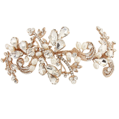 SASSB COLLECTION - ELISE EXQUISITE FLEXIBLE HEADPIECE - ROSE GOLD