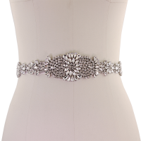 ATHENA COLLECTION - EXQUISITE CRYSTALLURE BRIDAL BELT - (BELT 24)