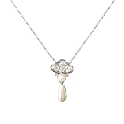 SASSB COLLECTION -  GATSBY  PEARL DROP NECKLACE - SASSB - (NK142)