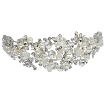 ATHENA COLLECTION - CRYSTAL LUXE HEADBAND - SILVER AHB29