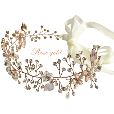 ATHENA COLLECTION - CRYSTAL ELEGANCE HAIR VINE - HP152 ROSE GOLD