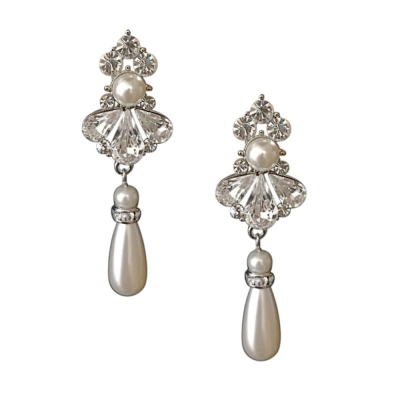 SASSB COLLECTION - EXQUISITE STARLET PEARL EARRINGS - SASSB -(ER409)
