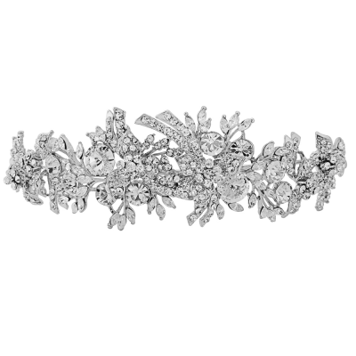 ELITE COLLECTION - Luxe Crystal Shimmer Tiara - Clear (Tiara 9)