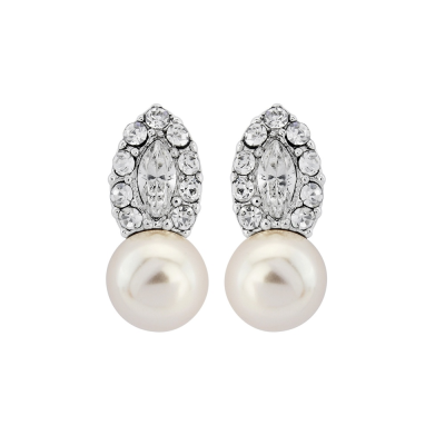 CZ COLLECTION - DECO CHIC PEARL EARRINGS - CZER406