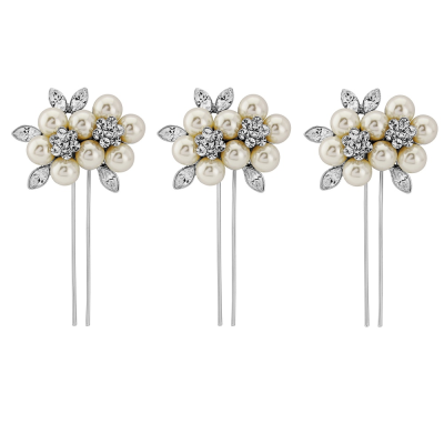 ELITE COLLECTION - Luxe Pearl Hair Pins - Ivory (Pin28)