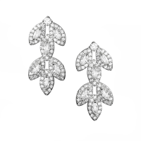 CUBIC ZIRCONIA COLLECTION - DECO DIVINE EARRINGS-  CZER599 SILVER