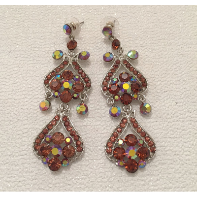 SALE ITEM - SMOKED TOPAZ EARRINGS - (518)